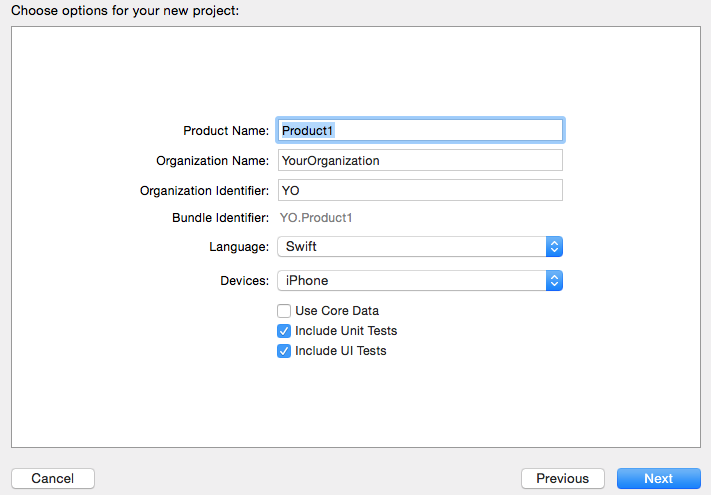 Create Swift Project Using Xcode