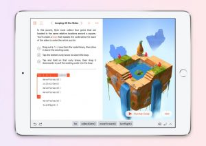Swift Playgrounds coding on an iPad