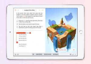 Swift Playgrounds coding on an iPad